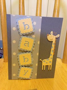 Baby boy card made by Jennifer Wagner using Cricut Create a Critter and New Arrival cartridges
