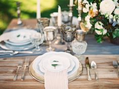 This lace Alexandra Grecco two piece may have had us at hello but it's just one piece of the pretty puzzle making up this styled shoot. Anna Joy Design put together a scene that is both stylish and subtle, uber