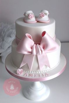 Sherwood Event Hall loved this pretty Baby Shower Cake! Torta Baby Shower, Baby Party, Baby Shower Parties, Christening Cake Girls, Baby Girl Cakes, Cake Baby, Girl Shower, Cute Cakes, Baby Birthday