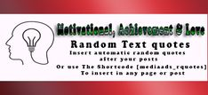 Best Quotes Motivational, Achievement& Love WordPress Plugin | Media Ads Labs