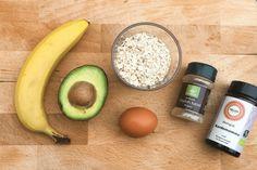 havrelapper med avocado og banan