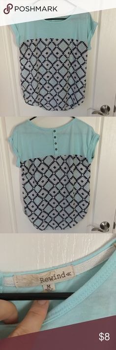 CUTE flowy top Cotton on the blue part and with a flowy patterned bottom. Very flattering and easy to dress up or down Tops Blouses
