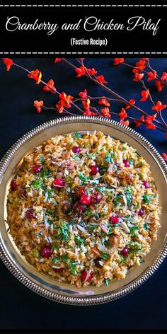 Cranberry and Chicken Pilaf