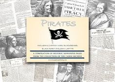 """Pirates (Captain Kidd, Blackbeard, Black Bart, & Jean Lafitte) Historic Newspaper Compilation from the Caren Archive . $30.60. This fascinating compilation cover famous pirates including Captain Kidd, Blackbeard, Black Bart, and Jean Lafitte . This newspaper provides reprinted pages with news of the day from a wide array of early publications from the Caren Archive. Includes illustrations. Pages have been enlarged to make reading easy. 15"""" x 22.5"""" Printed on newspaper stock...."""