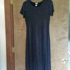 Adorable black dress! REDUCED $$$$ Rose pattern! Cut size tag out due to sensitive neck! Blue Papaya Dresses