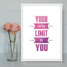 Motivational poster Printable Wall Art by Quotes2love on Etsy