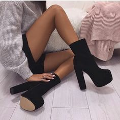Luxe Lady Shop - Online Shoes Store – Luxe Lady Shop - Shoes Store - ankle boots/ Stiefeletten/ boots - Best Shoes World High Heel Boots, Heeled Boots, Shoe Boots, Shoes Heels, Ankle Boots, High Heels Outfit, Heels Outfits, Pumps, Shoes Sneakers