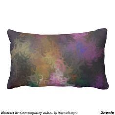 Abstract Art Contemporary Colorful Swirls Lumbar