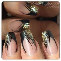 """""""Matte and shiny For my bff @olaussonlinda #nails #nailart #naglar #nailporn #nailpro #nailswag #nailie #nailtech #nagelterapeut #nagelteknolog…"""""""