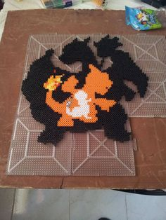 From 004 to 006 - #Pokemon Charmander Bead Art