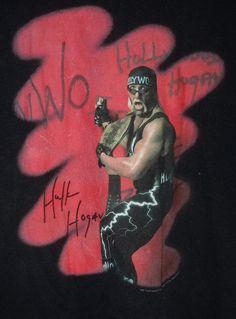 Wwe wcw Hollywood Hulk Hogan T- Shirt Rare XL Nwo WWF 1998 #Wwe
