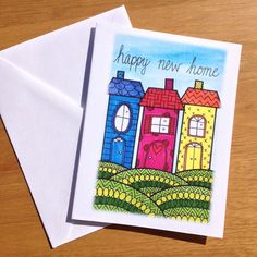 Congratulations Card Happy New Home by PaisleyandHazel on Etsy