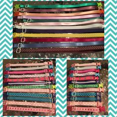 Some more completed sets or collars. Super cute new colours coming soon too!