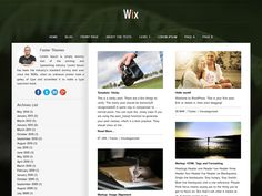 'Wix' Theme. Theme Details : http://fasterthemes.com/wordpress-themes/Wix