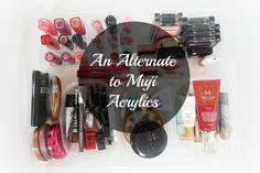 An Alternate to Muji Acrylics Muji, Makeup Storage, Acrylics, Posts, Photo And Video, Blog, Beauty, Messages, Acrylic Nails