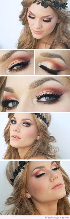 Linda Hallberg orange makeup and blonde hair