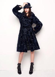 Solleciti Black Dyed Swakara Lamb Fur Coat