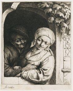 Adriaen van Ostade, Village Romance, c. 1667, Harvard Art Museums/Fogg Museum.