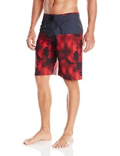 Zul Light Blue Red Mens Swim Trunk Sportwear Quick Dry Board Shorts with Lining