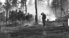 A look at how we used to battle blazes, from the late 1800s through the mid 1900s.