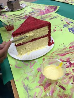 is tomorrow in Texas. We had a big art time making cakes and pie in grade this past 9 weeks. It was fun, it was messy,. Foam Crafts, Craft Stick Crafts, Wayne Thiebaud Paintings, Food Sculpture, Felt Food, Cake Art, Pastel, How To Make Cake, Art Day