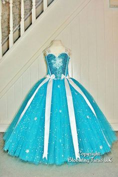 Disney Frozen Elsa inspired super sparkly tutu dress. Hey, I found this really awesome Etsy listing at https://www.etsy.com/uk/listing/262050771/disney-frozen-elsa-inspired-super