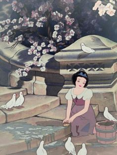 Discovered by 𝒦𝓇𝒾𝓈𝓉𝒾𝓃𝒶 ℛ𝑜𝓂𝒶𝓃𝑜𝓋𝒶. Find images and videos about disney, princess and snow white on We Heart It - the app to get lost in what you love. Disney Pixar, Walt Disney, Cute Disney, Disney Animation, Disney And Dreamworks, Disney Cartoons, Disney Magic, Disney Art, Disney Characters