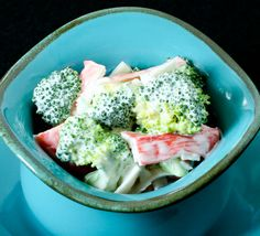 A luscious blend of mayonnaise, imitation crab, broccoli and spices. Recipe is in the cookbook, A Taste of Guam.