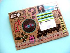 create often. mail art like it Bff, Letter Folding, Paper Art, Paper Crafts, Fun Mail, Decorated Envelopes, Envelope Art, Diy Letters, Happy Mail