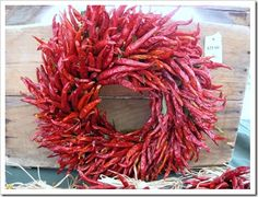 Chile Peppers 50 Unexpected Wreaths You Can Make Out Of Anything Cowboy Christmas, Mini Christmas Tree, Holiday Wreaths, Christmas Decorations, Holiday Decor, Pine Cone Flower Wreath, Fun Crafts To Do, Diy Wreath, Wreath Ideas
