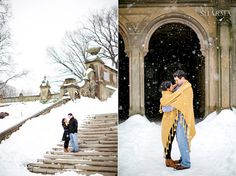 Central Park Snow New York Engagement Photos
