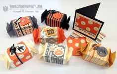 Spooky Bingo Bits and Toxic Treats stamp sets. Designed by Mary Fish, Independent Stampin' Up! Demonstrator. Details, supply list and more card ideas on http://stampinpretty.com/2012/10/pals-halloween-trick-or-treat-blog-candy-hop.html