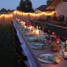 Gorgeous outdoor dinner parties <3
