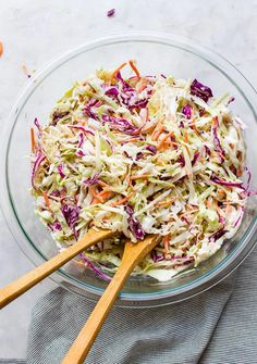 Vegan Coleslaw (Classic Recipe!) - The Simple Veganista