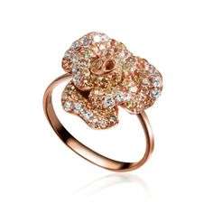 Peony Ring (Small) by Fei Liu - Rose Gold Finish Girls Best Friend, Peony, Heart Ring, Gems, Rose Gold, Engagement Rings, Jewels, Jewellery, Bracelets