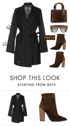 """""""#OOTD - MM6 Coat, Dior Bag, Giambattista Valli Boots"""" by adswil ❤ liked on Polyvore featuring MM6 Maison Margiela, Christian Dior, Giambattista Valli, Givenchy, Dior, ootd and mm6"""