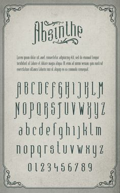 Absinthe Typeface - Free Font