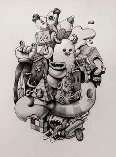 Ink Doodles. by Maria Tiurina, via Behance