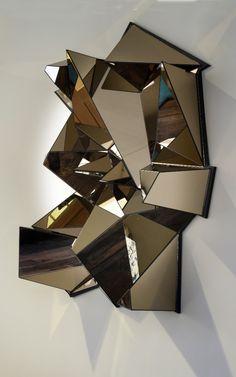 3er Set miroir mural Diamant miroir déco miroir de salle flurspiegel Dekospiegel