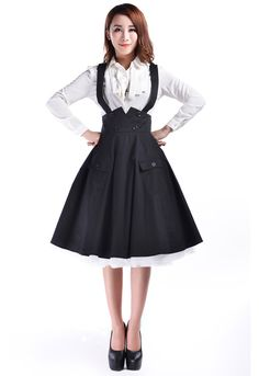 1950s Circle Suspender Skirt by Amber Middaugh 2015  Standard Size $39.95 Plus Size$45.95