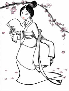 Mulan Coloring Page by ~myaime on deviantART