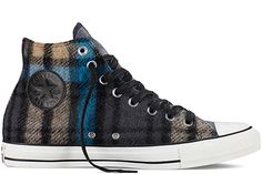 e43f3b5fa3ab36 Converse turned Woolrich s classic blanket fabric and patterns into uppers  for these awesome Chuck Taylor All Star high top