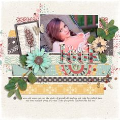 This layout by Jan Sowder is featured in the July issue of Spark magazine and uses a template from the Simple Scrapper membership.