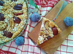 fitness dezerty: Letný slivkový koláč s tvarohom a chrumkavou musli...