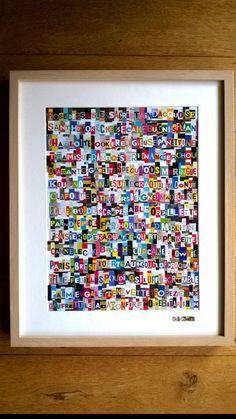 Collage multicolore tableau contemporain hot sophie costa artiste peintre - Tableau original contemporain ...