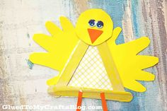 Popsicle del polluelo del palillo del bebé - Kid Craft