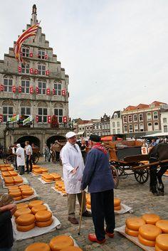 Gouda Cheese Market in Holland