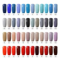 Blue Shellac Nails Uv Gel Nail Polish Soak Off