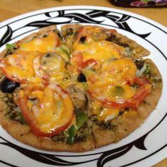 Pita bread pizza. Healthy and so good!