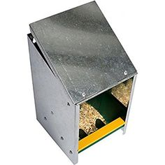 ETON HOPPER Galvanized poultry feeder with slanting lid, capacity kg. Product code This poultry feeder is made of galvanized sheet metal and is ideal for compact coops up to 5 animals or as a grit feeder. Galvanized Sheet Metal, Automatic Feeder, Coops, Poultry, I Shop, Decorative Boxes, Storage, Beekeeping, Livestock